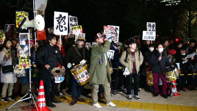 030707 - Labornet「アベとアソウは今すぐやめろ!」〜国会前で内閣総辞職を求める大抗議 (anti-Abe, Aso Demo)